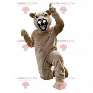 Maskot béžová puma, maskování puma, tygr - Redbrokoly.com