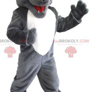 Mascota lobo gris y blanco - Redbrokoly.com
