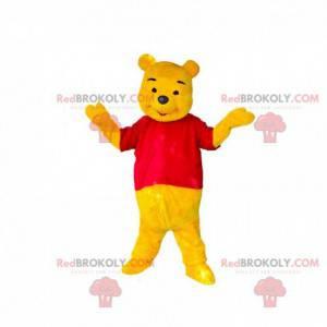 Maskot Medvídek Pú, slavný kreslený žlutý medvěd -