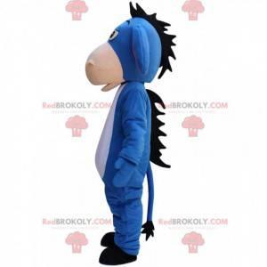 Mascot Eeyore, famous blue donkey in Winnie the Pooh -