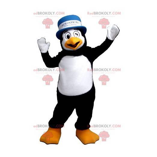 Schwarzweiss-Pinguin-Maskottchen mit einem Hut - Redbrokoly.com