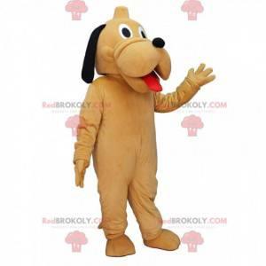 Maskottchen Pluto, der berühmte gelbe Hund aus Disney -