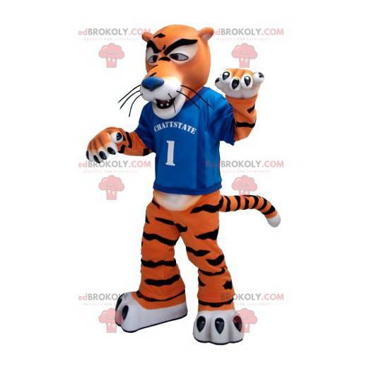 Bílý a černý oranžový tygr maskot - Redbrokoly.com