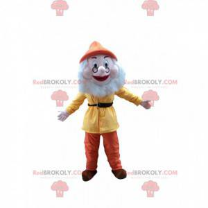 Mascote Prof, o famoso anão do desenho animado Branca de Neve -