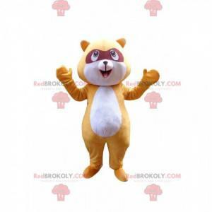 Mascota de mapache amarillo, disfraz de animal del bosque -