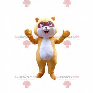 Mascote de guaxinim amarelo, fantasia de animal da floresta -