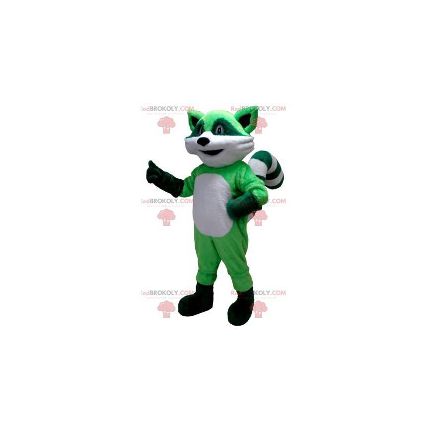 Zelený a bílý mýval maskot - Redbrokoly.com