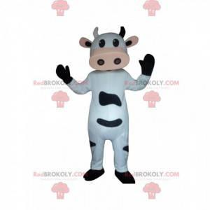 Mascotte mucca bianca e nera, costume da mucca - Redbrokoly.com