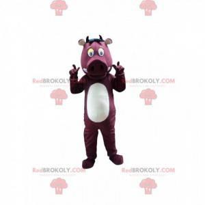 Wild zwijn mascotte, wrattenzwijn, wild varken kostuum -