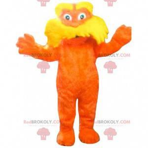 Maskotka Lorax, słynne pomarańczowe stworzenie z kreskówek -