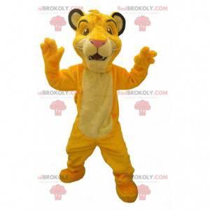 "Mascot Simba, el famoso león de la caricatura ""El rey león"" -"