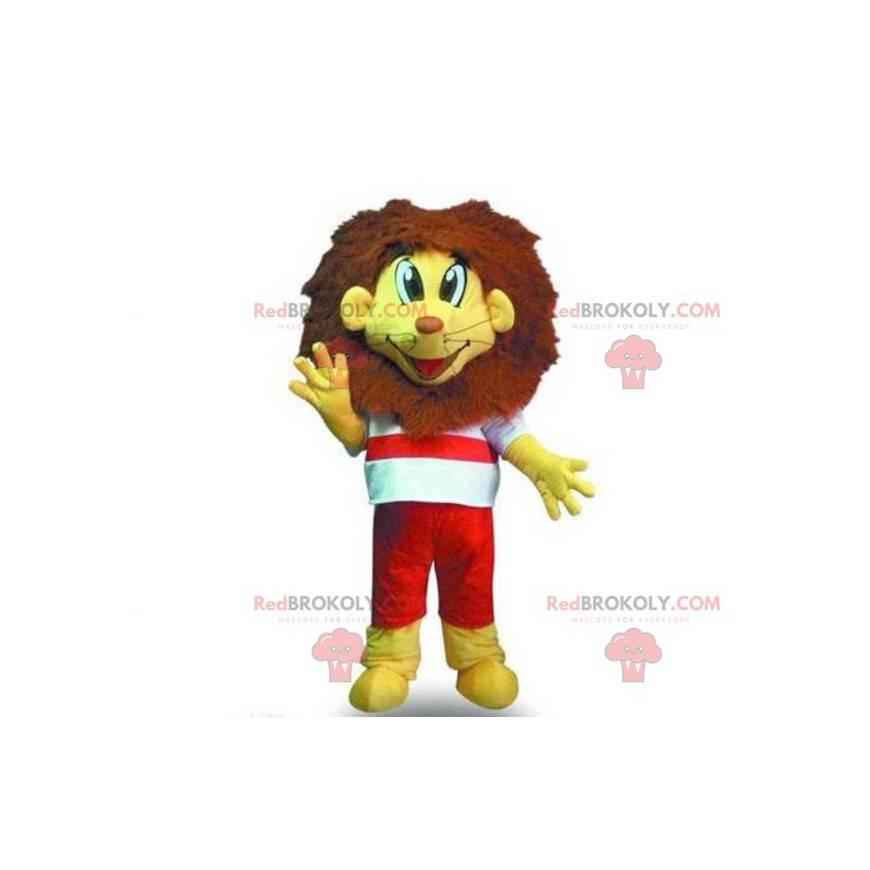 Maskottchen kleiner gelber und brauner Löwe - Redbrokoly.com