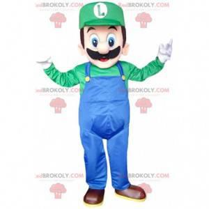 Maskot av Luigi, den berømte rørleggervennen til Mario fra