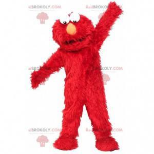 Mascote de Elmo, o famoso boneco vermelho dos Muppets -