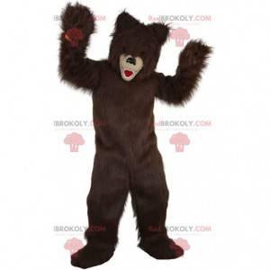 Maskot chlupatého medvěda, kostým hnědého medvídka -