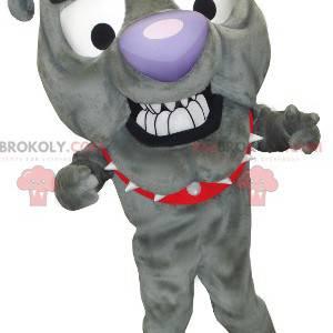 Bulldog grå hundemaskot - Redbrokoly.com