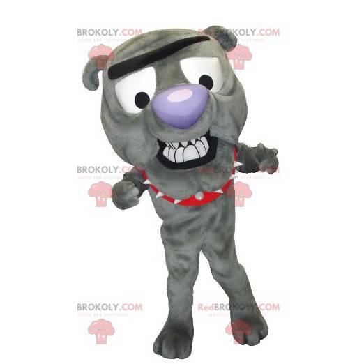 Graues Hundemaskottchen der Bulldogge - Redbrokoly.com