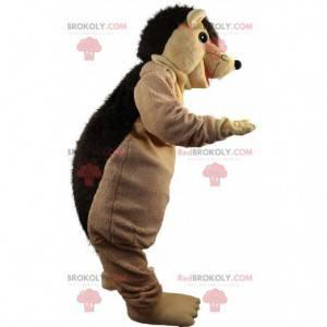 Mascote de ouriço marrom, fantasia de ouriço de pelúcia -