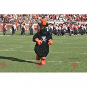 Mascotte cavallo nero e arancione - Redbrokoly.com