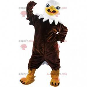 Hrdý a majestátní maskot hnědého orla, supí kostým -