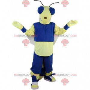 Fliegenmaskottchen, gelbe und blaue Biene, Insektenkostüm -