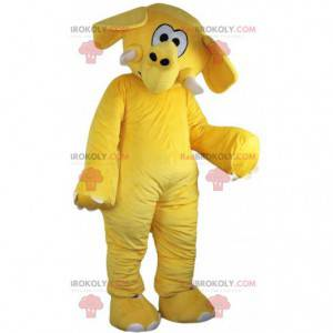 Gelbes Elefantenmaskottchen, gelbes Elefantenkostüm -