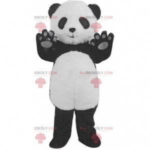 Obří černobílý panda maskot, krásný kostým medvídka -