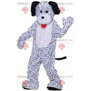 Obří dalmatský maskot, kostým bílého a černého psa -
