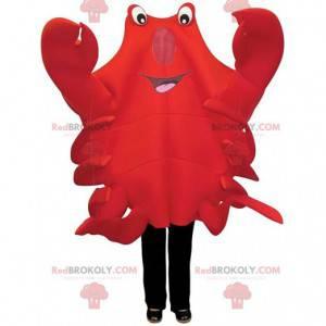 Mascote de caranguejo vermelho muito original, fantasia de