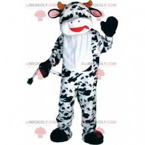 Hvid og sort ko maskot, ko kostume - Redbrokoly.com