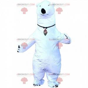 Nadmuchiwana maskotka niedźwiedź polarny, kostium gigantycznego