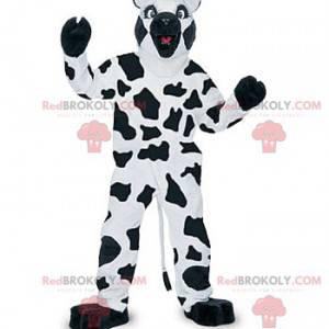Biała i czarna maskotka krowa - Redbrokoly.com