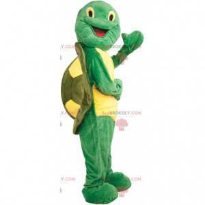 Mascotte tartaruga verde e gialla, costume animale verde -