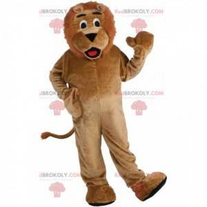 Plush brown lion mascot, feline costume - Redbrokoly.com