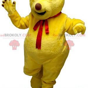 Gul bjørn maskot - Redbrokoly.com