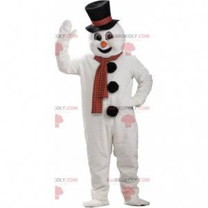 Maskottchen weißer Schneemann, Riese, Bergkostüm -