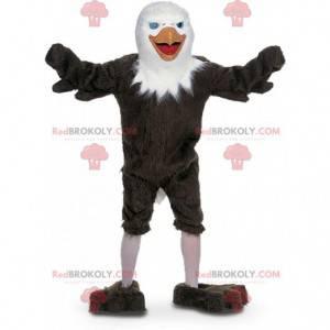 Maskot hnědý a bílý orel, supí kostým - Redbrokoly.com