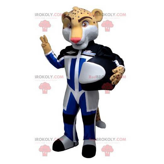 Maskot leopardí tygr v pilotním oblečení - Redbrokoly.com