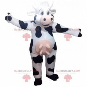 Mascota de vaca blanca y negra, disfraz de vaca - Redbrokoly.com