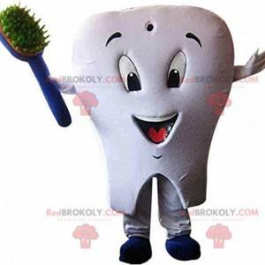 Mascote gigante dente branco, fantasia de dente - Redbrokoly.com
