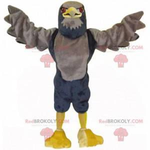 Braunes und schwarzes Adlermaskottchen, großes Geierkostüm -