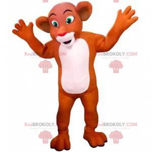 "Mascota de Nala, la famosa leona de la caricatura ""El rey león"""