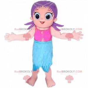 Havfrue-maskot, tahitisk, feriedragt - Redbrokoly.com