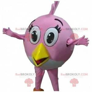Maskot Stella, slavný růžový pták hry Angry birds -