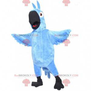 "Mascot Blu, de beroemde blauwe papegaai uit de tekenfilm ""Rio"""