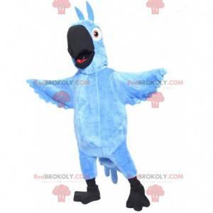 Maskottchen Blu, der berühmte blaue Papagei aus dem Cartoon
