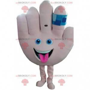 """Mascotte mano gigante, costume """"Dammi il cinque"""" con una benda"""