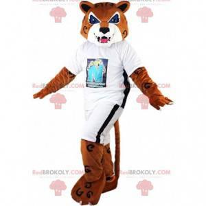 Tiger Maskottchen, brauner Puma, wildes Katzenkostüm -