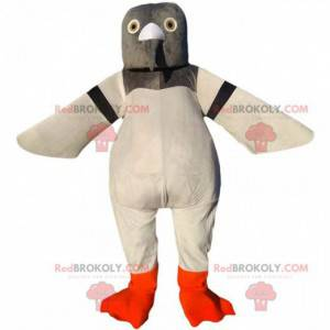 Riesentaubenmaskottchen, grau und weiß, Taubenkostüm -
