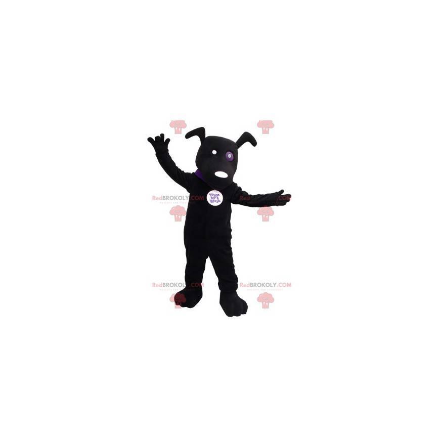 Černý pes maskot - Redbrokoly.com
